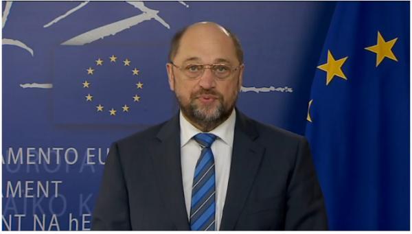 """Видео обръщение на председателя на Европейския парламент Мартин Шулц по повод терористичната атака срещу """"Шарли Ебдо"""""""