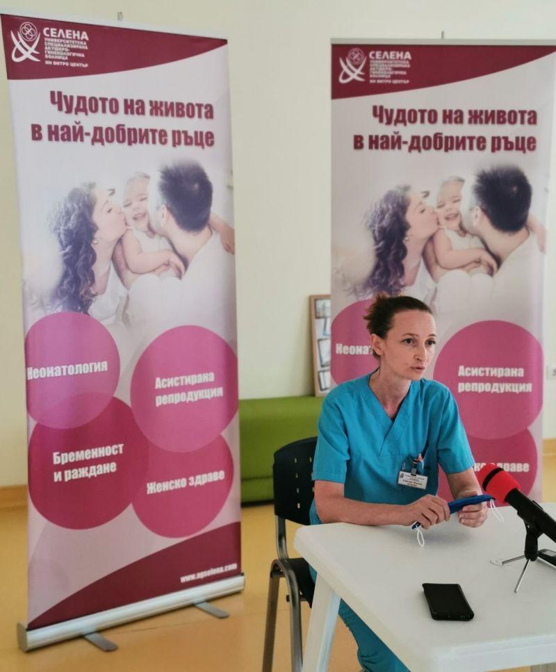 """Емилия Чукова, акушерка в инвитро центъра на болница """"Селена"""""""
