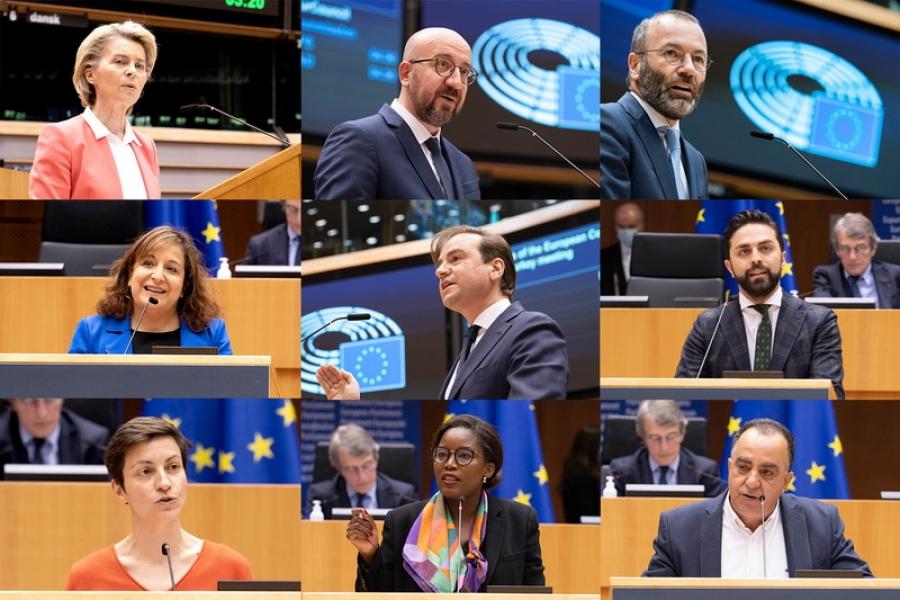 Отношенията между ЕС и Турция бяха в центъра на дебата в пленарна зала с председателите Шарл Мишел и Урсула фон дер Лайен