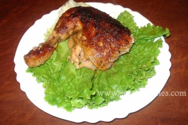 Пиле с бира