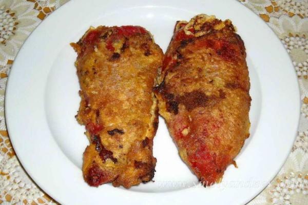 Чушки бюрек с домати на фурна