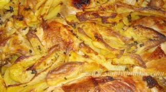 Бирено пиле с картофи