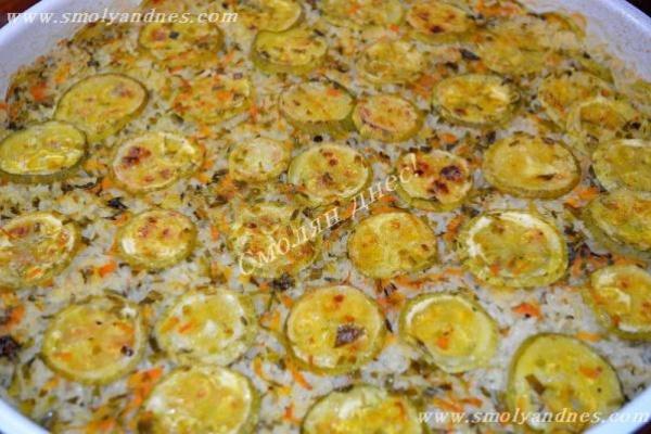Тиквички с ориз на фурна