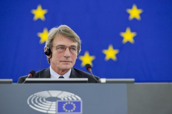 Давид Сасоли бе избран  с 345 гласа за нов председател на Европейския парламент