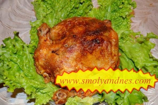 Печено цяло пиле в йенска тенджера